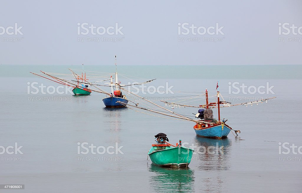 Fisherboats at Koh Samui royalty-free stock photo