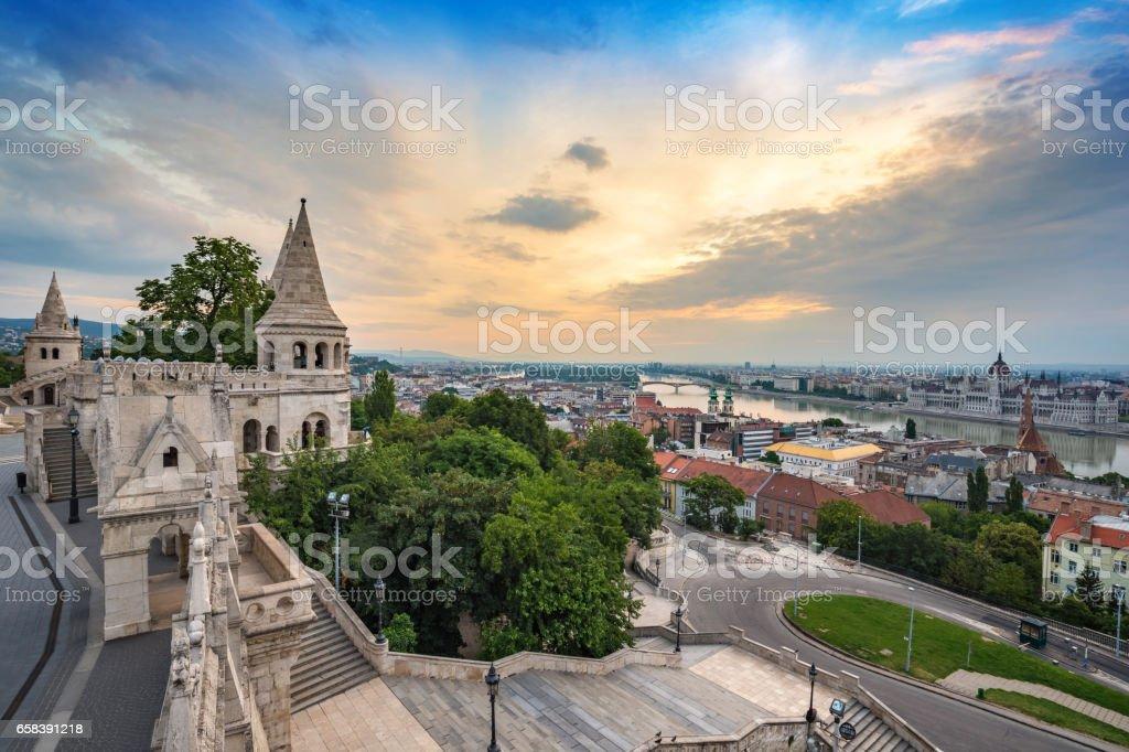 Fisherman Bastion, Budapest, Hungary stock photo