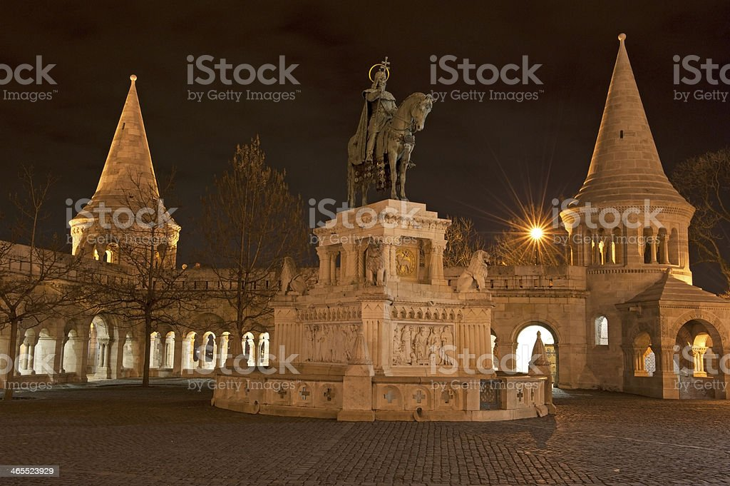 Fisherman Bastion in Budapest stock photo