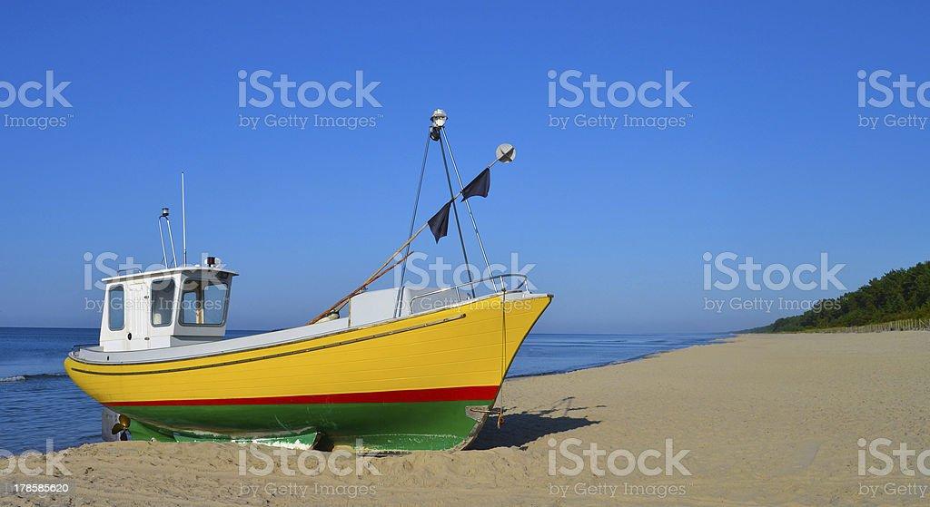 Fisherman boat royalty-free stock photo