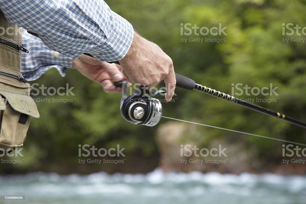 fisherman hand stock photo