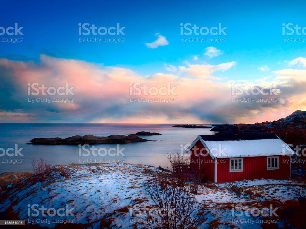 Fisherman house. stock photo