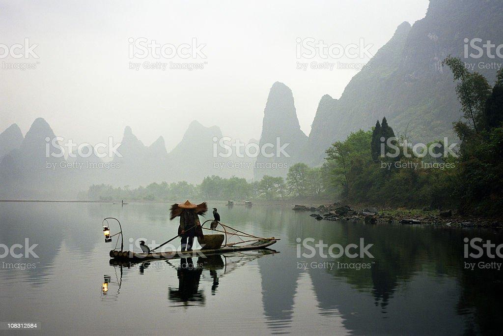 Fisherman In China royalty-free stock photo