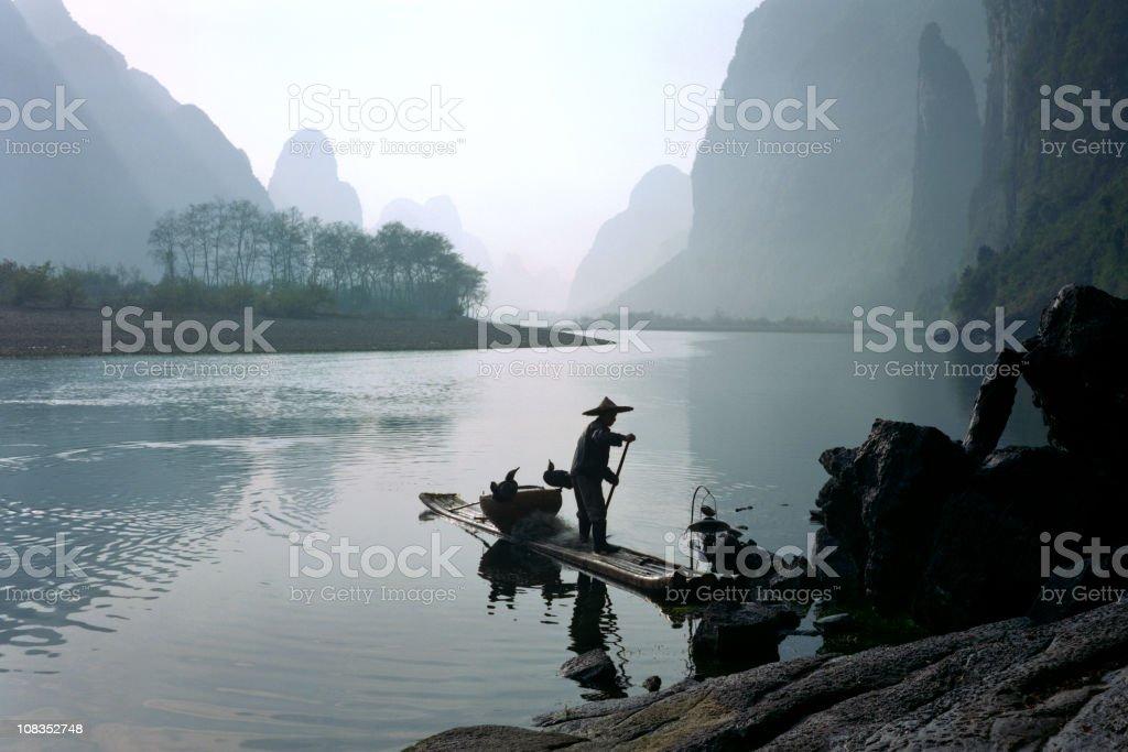 Fisherman in China stock photo