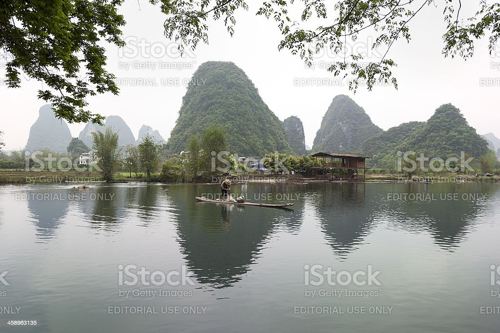 Fisherman in China royalty-free stock photo