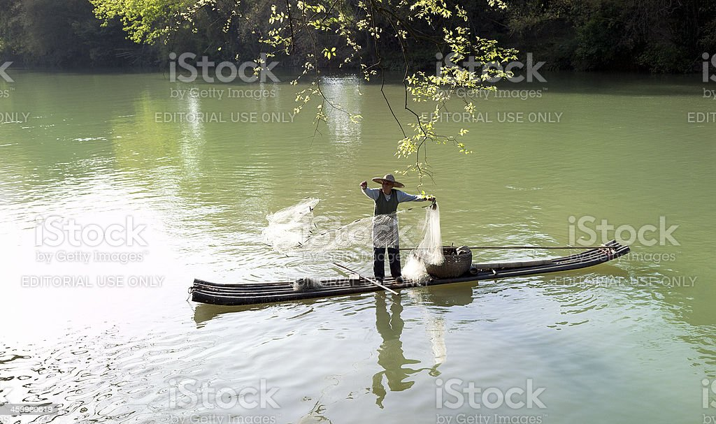 Fisherman in China stock photo
