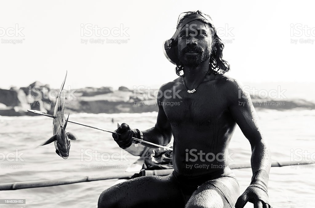Fisherman India royalty-free stock photo