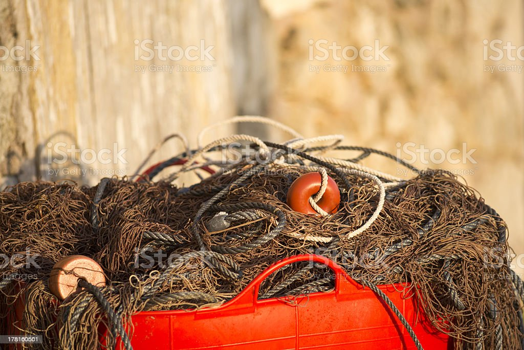 Fisherman net royalty-free stock photo