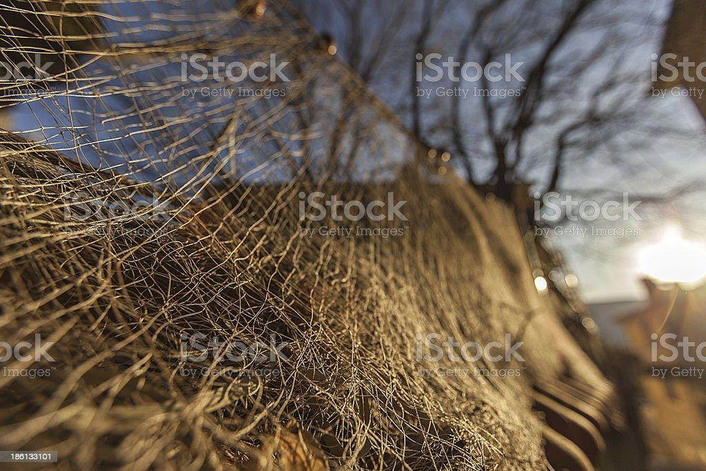 fisherman net stock photo