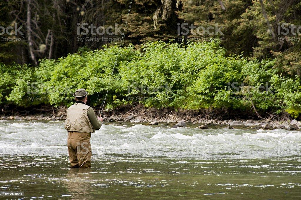 Fisherman on River royalty-free stock photo