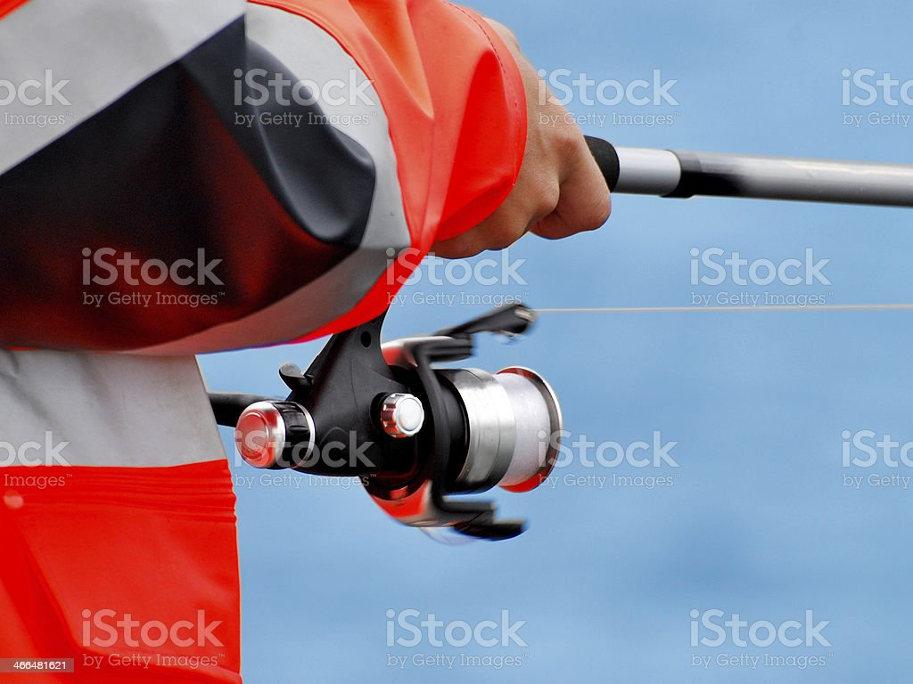 Fisherman on the coast of Norway royalty-free stock photo