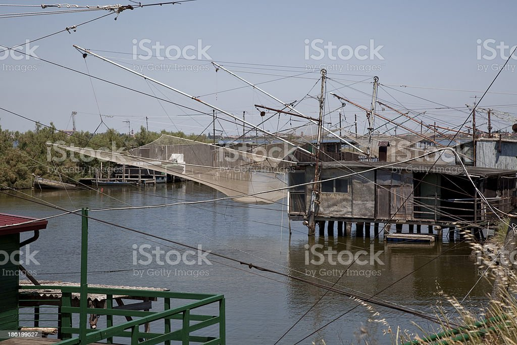 Fisherman on the river royalty-free stock photo