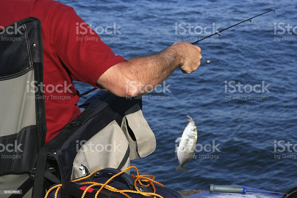 Fisherman royalty-free stock photo