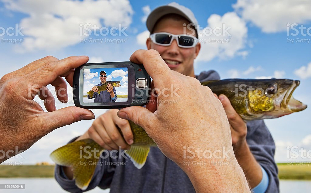 Fisherman snapshot royalty-free stock photo