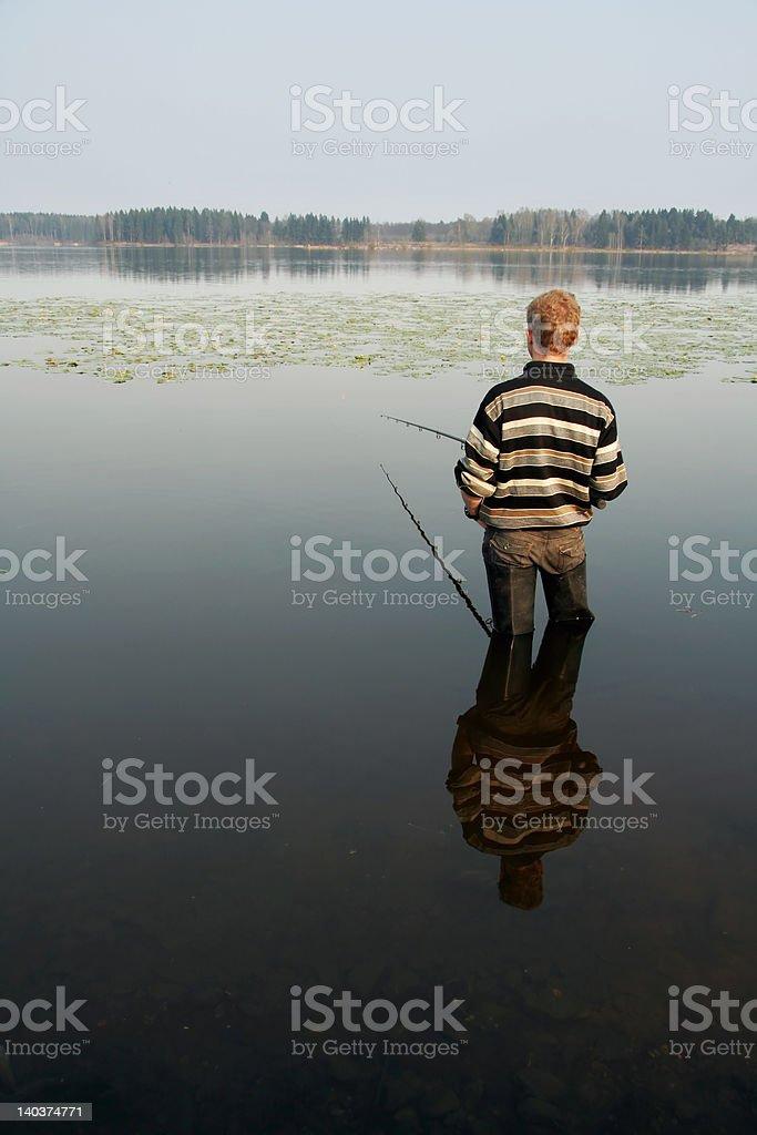 Fisherman, summer, travel royalty-free stock photo