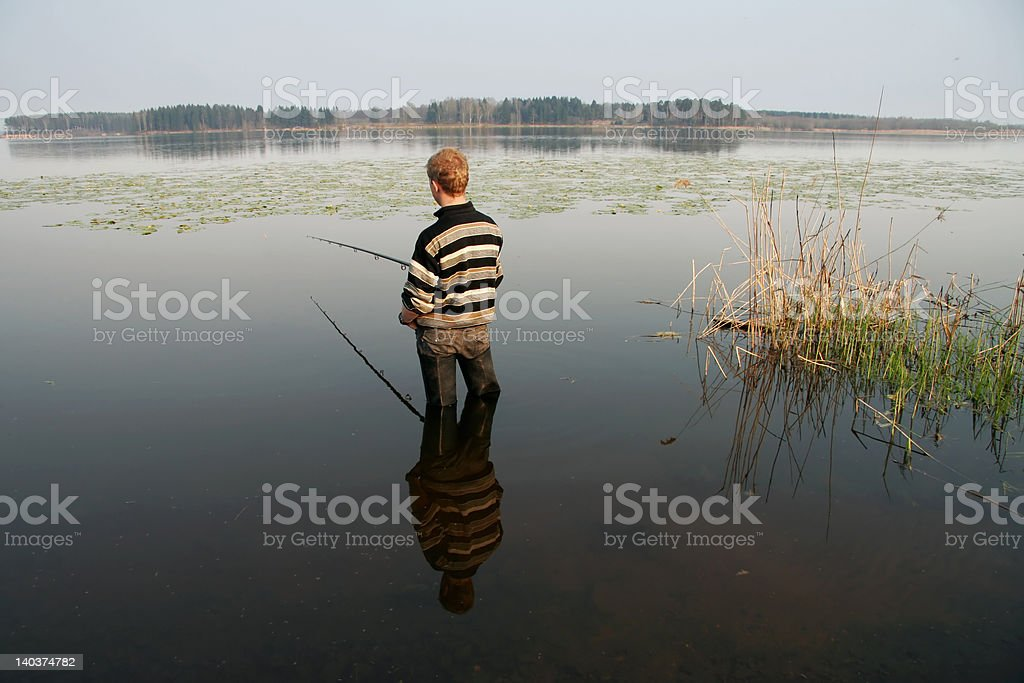 Fisherman, summer, travel royalty-free stock photo