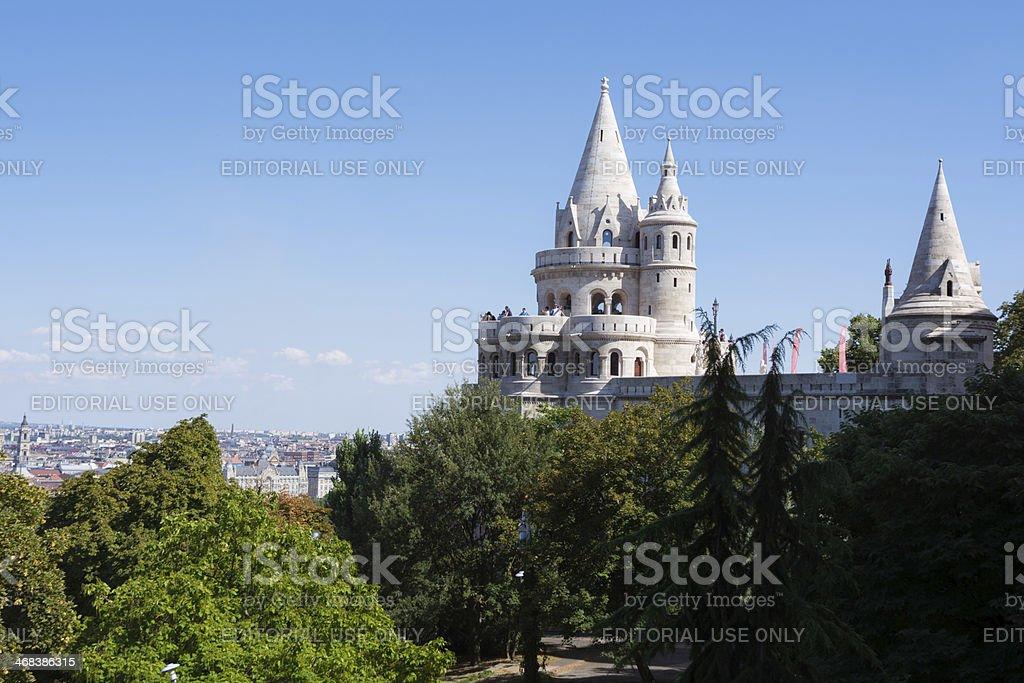 Fisherman's Bastion in Budapest, Hungary stock photo