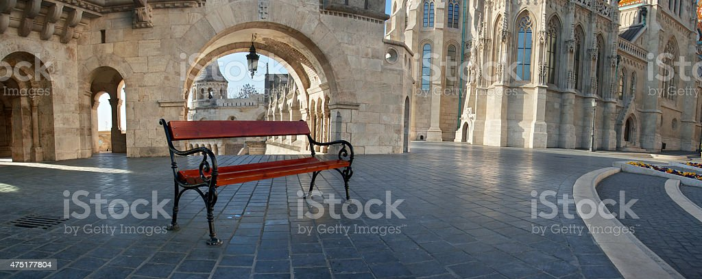 Fisherman's Bastion, Matthias Church in Budapest stock photo