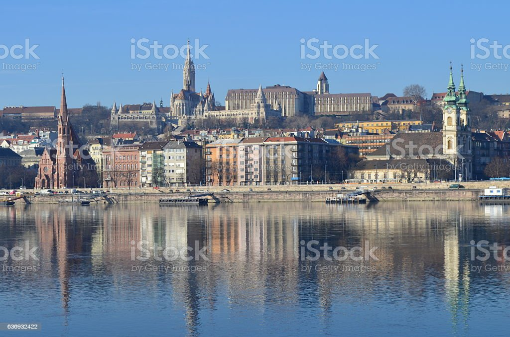 Fisherman's Bastion & Matyas church in Budapest, Hungary stock photo