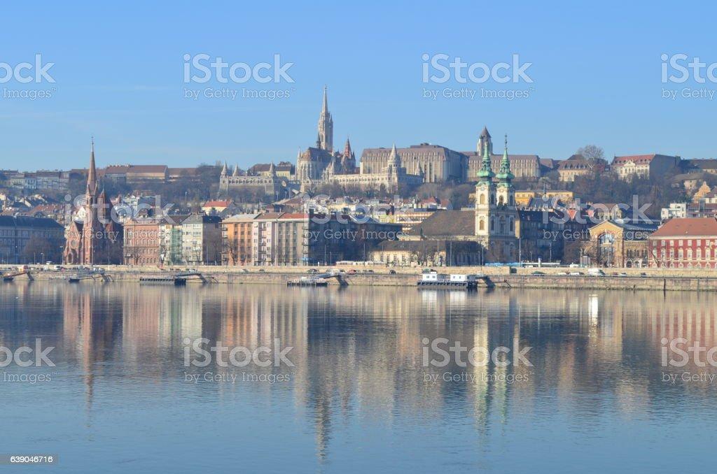 Fisherman's Bastion & Matyas church in Budapest, Hungary stock photo