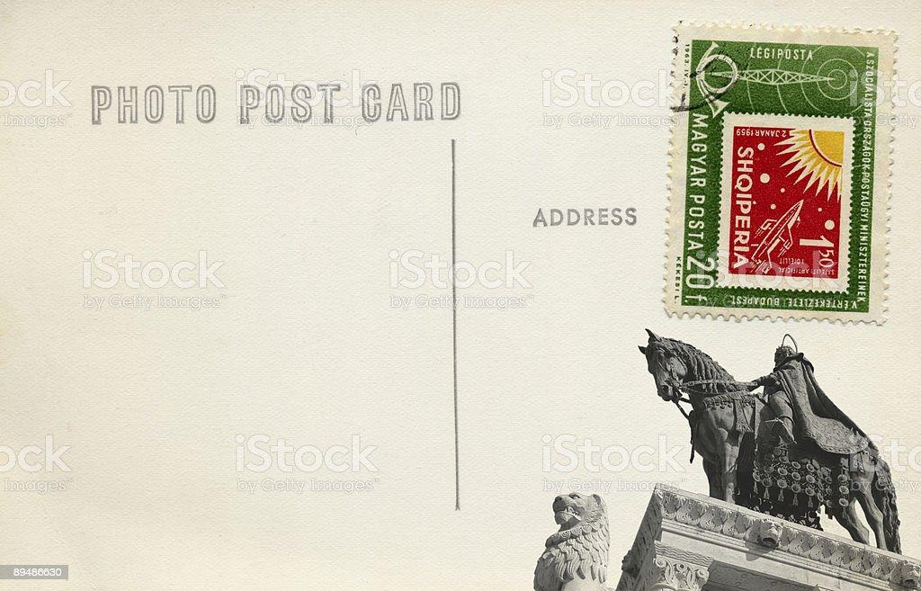 Fisherman's Bastion Postcard royalty-free stock photo