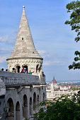 Fisherman's Bastion Tower with tourists