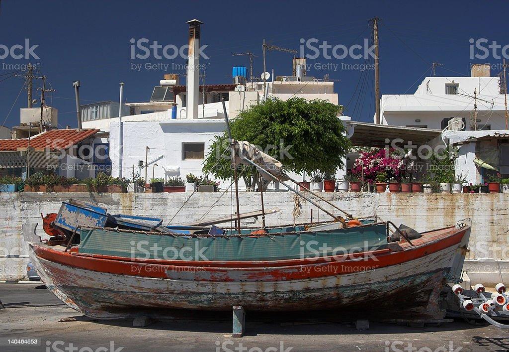 Fisherman's boat royalty-free stock photo