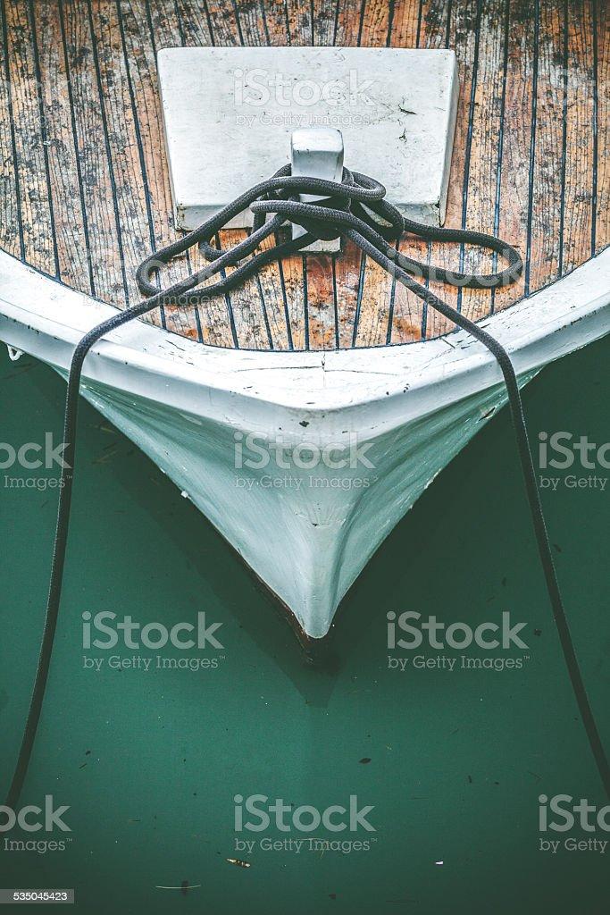 Fishermans boat stock photo