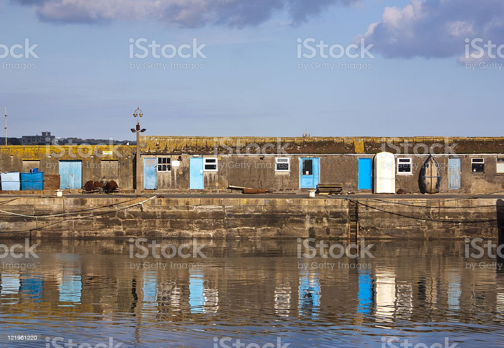 Fishermans Cottages,Newlyn Harbour stock photo