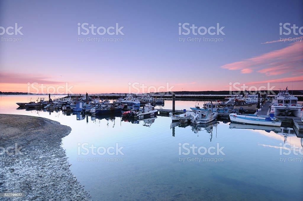 Fisherman's Dock Poole Dorset stock photo