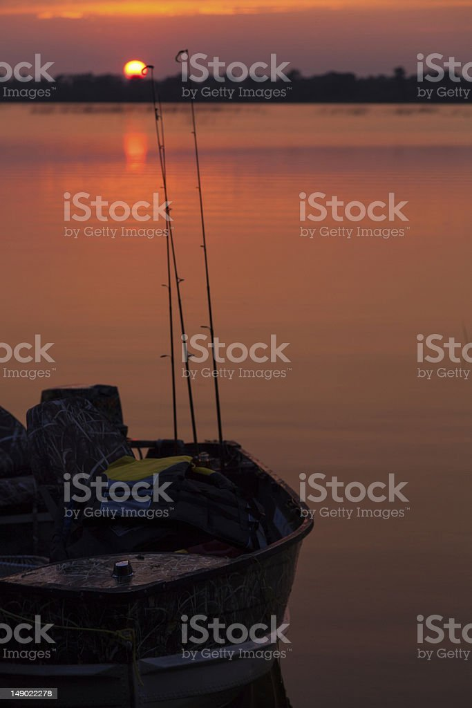 Fisherman's End of the Day royalty-free stock photo