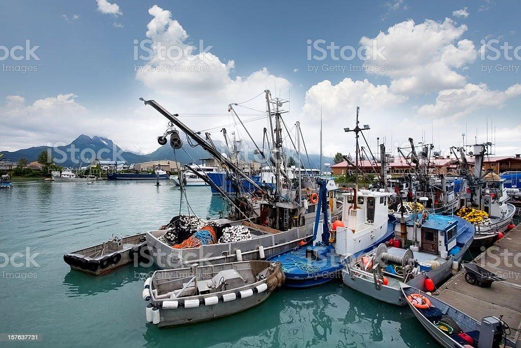 Fishermans harbor in Seward,Alaska...USA stock photo