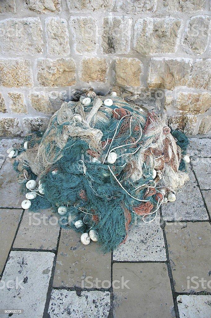 Fisherman's Net, Dubrovnik, Croatia. stock photo