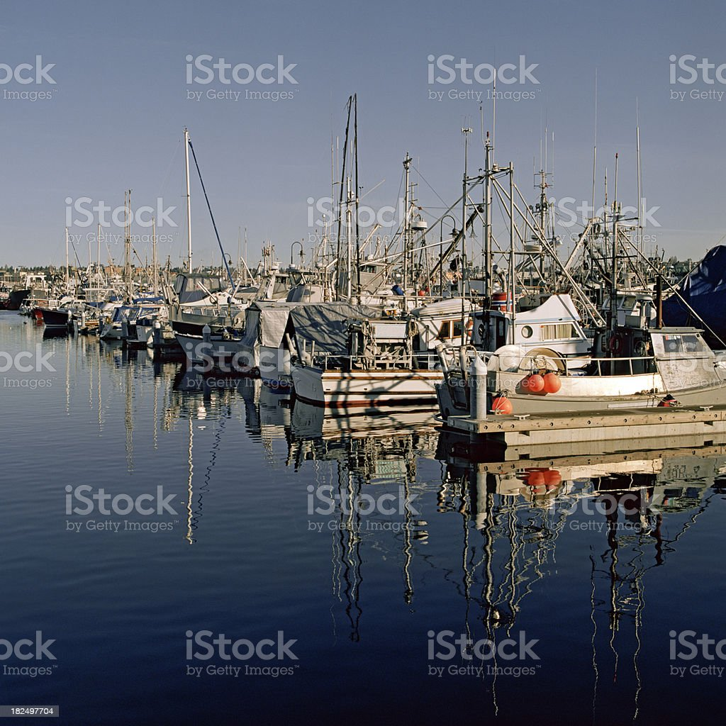 Fisherman's Terminal, Ballard, Washington stock photo