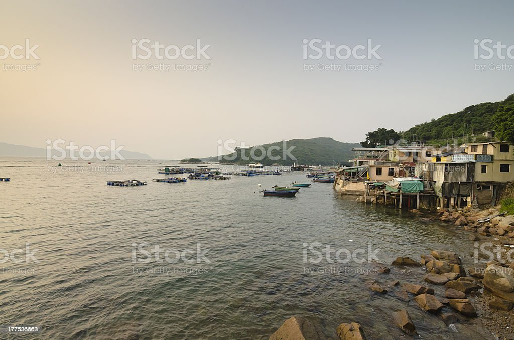 Fisherman's Village at Twilight royalty-free stock photo
