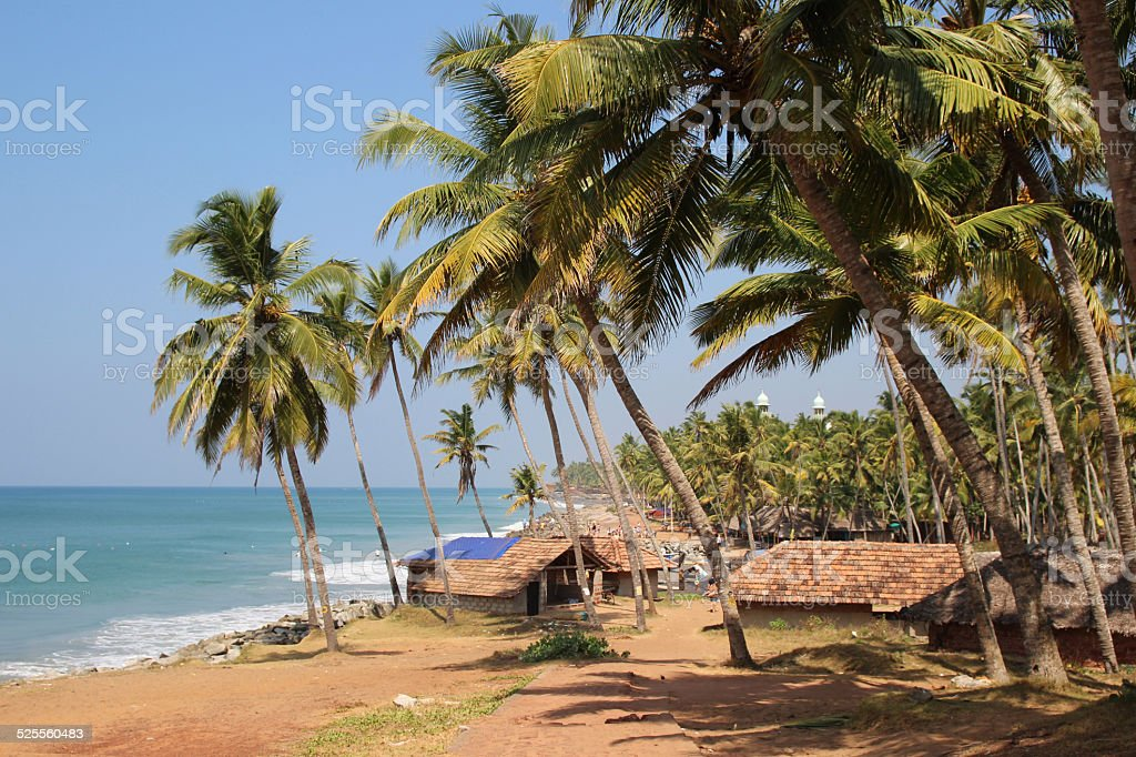 Fishermans village on the Indian ocean coast royalty-free stock photo