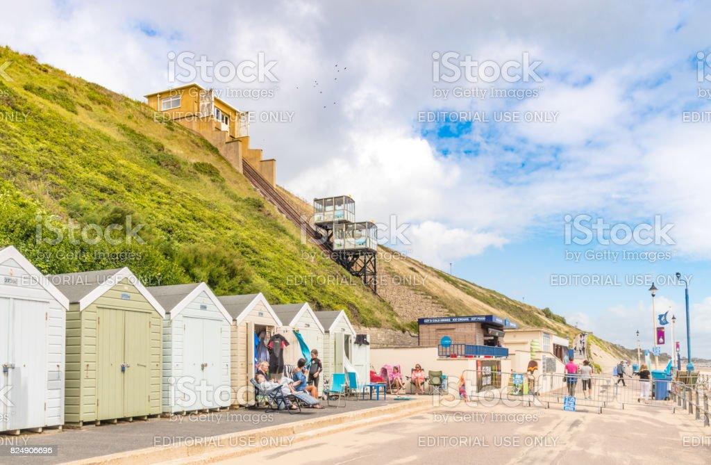 Fisherman's Walk Cliff Lift on Bournemouth Beach stock photo
