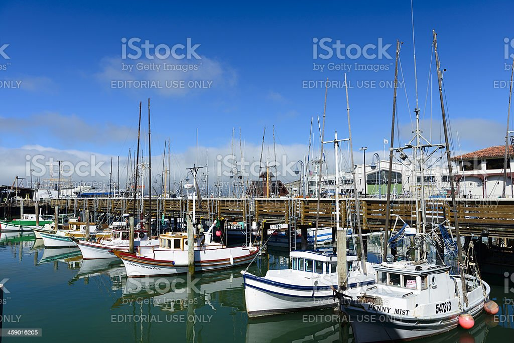 Fisherman's Wharf and Harbour in San Francisco USA royalty-free stock photo