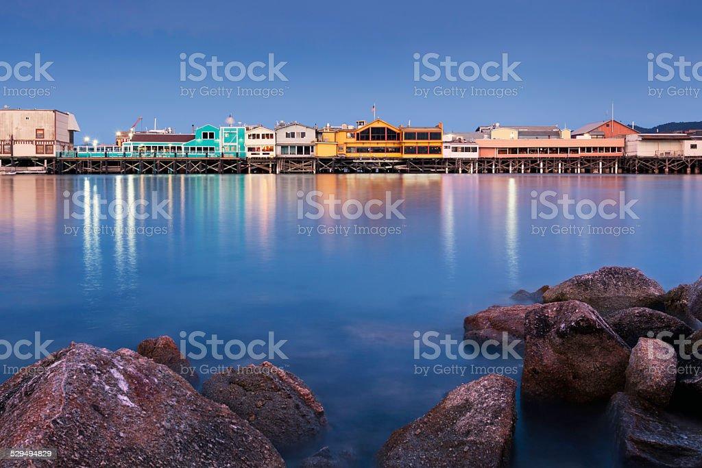 Fisherman's Wharf in Monterey stock photo