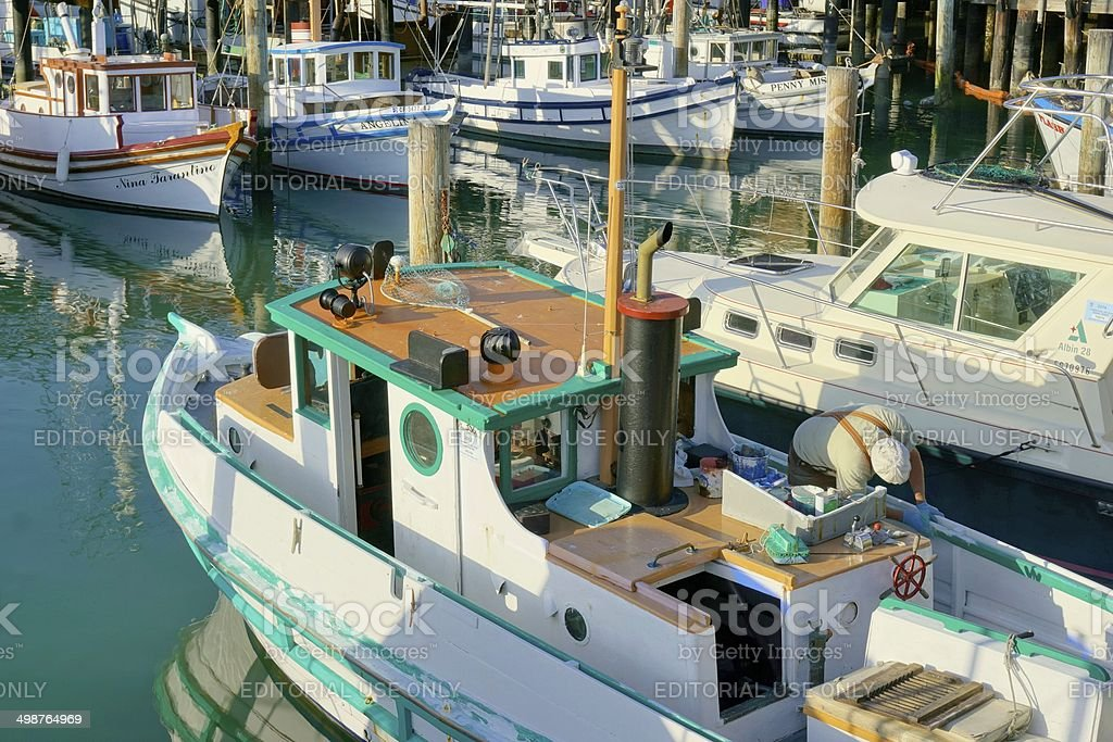 Fishermans' Wharf in San Francisco, California stock photo