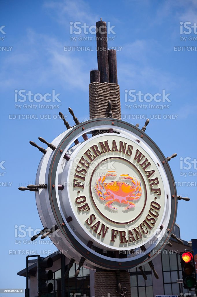Fishermans Wharf of San Francisco stock photo