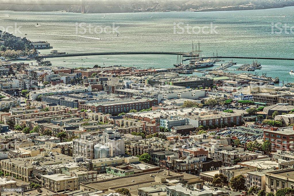 Fisherman's Wharf panorama stock photo