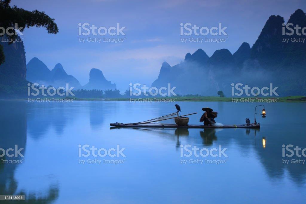 Fishermen fishing stock photo