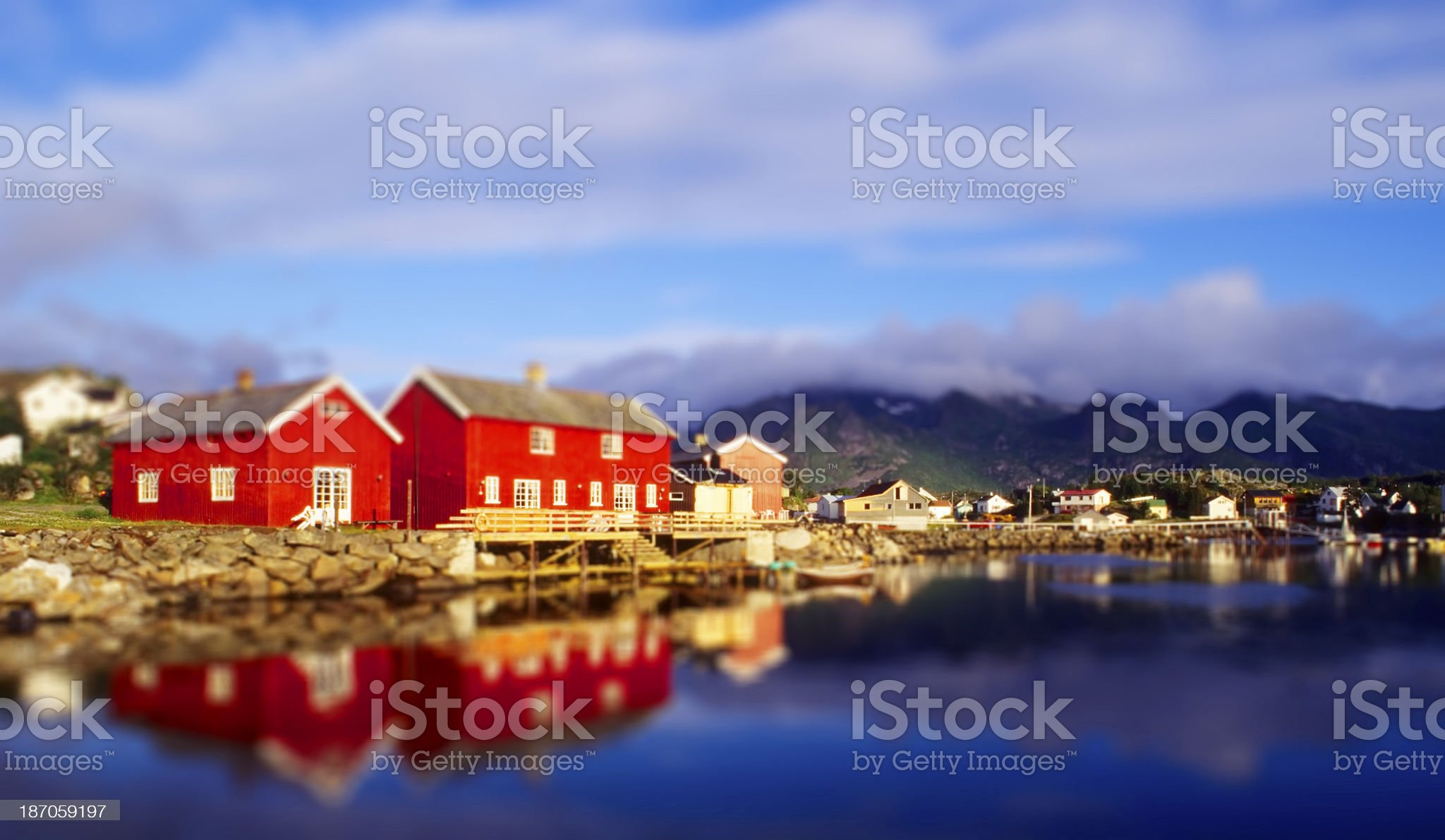 Fishermen Houses royalty-free stock photo