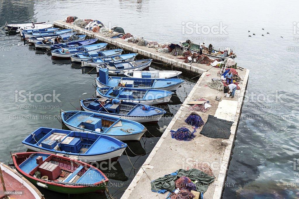Fishermen in Gallipoli royalty-free stock photo