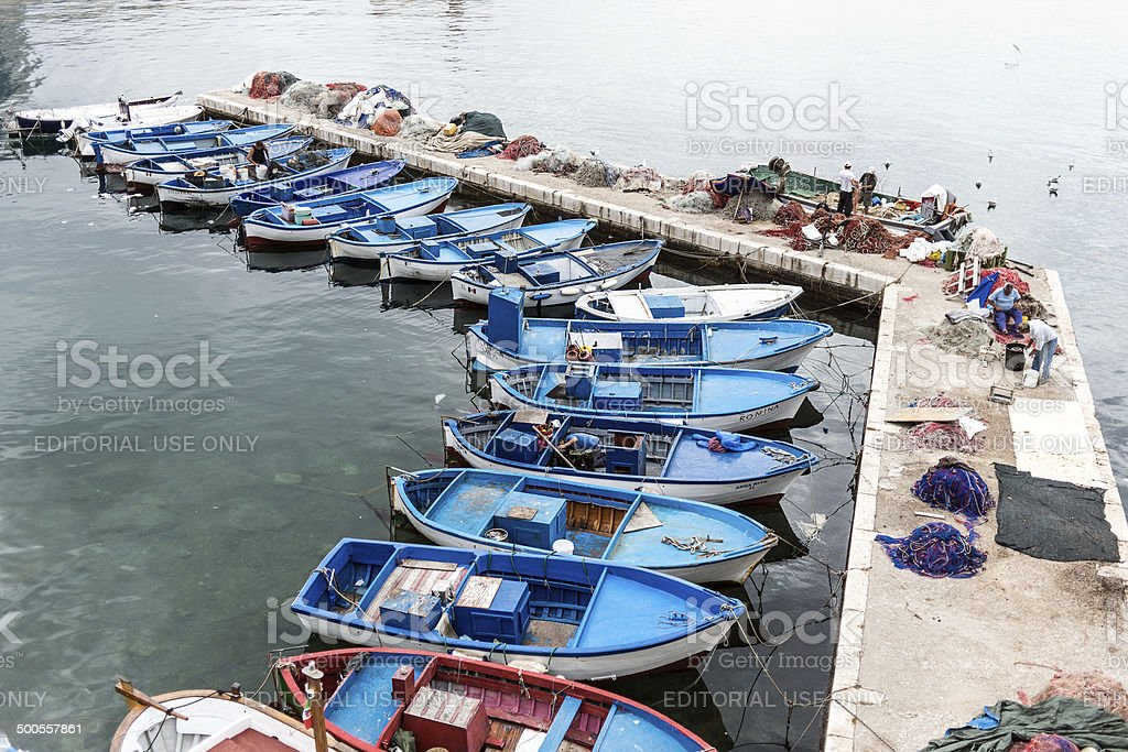 Fishermen in Gallipoli royalty-free stock photo