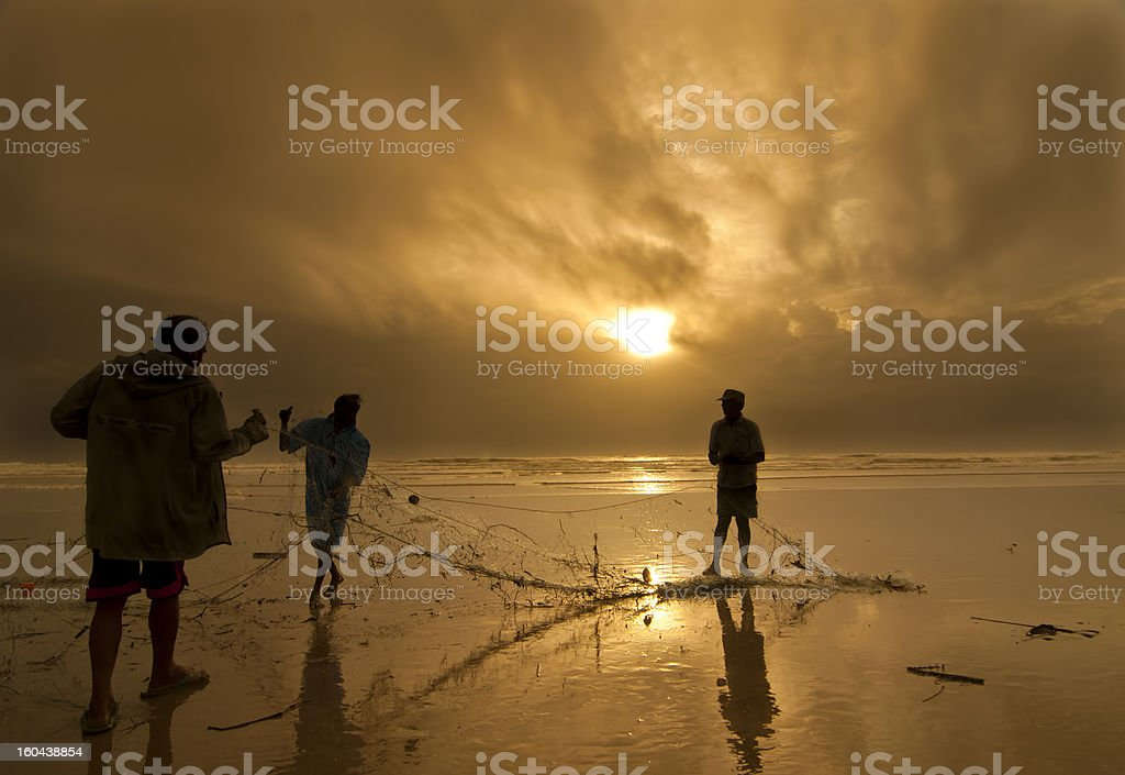 Fishermen of Goa stock photo