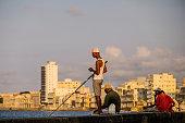 Fishermen on Malecon