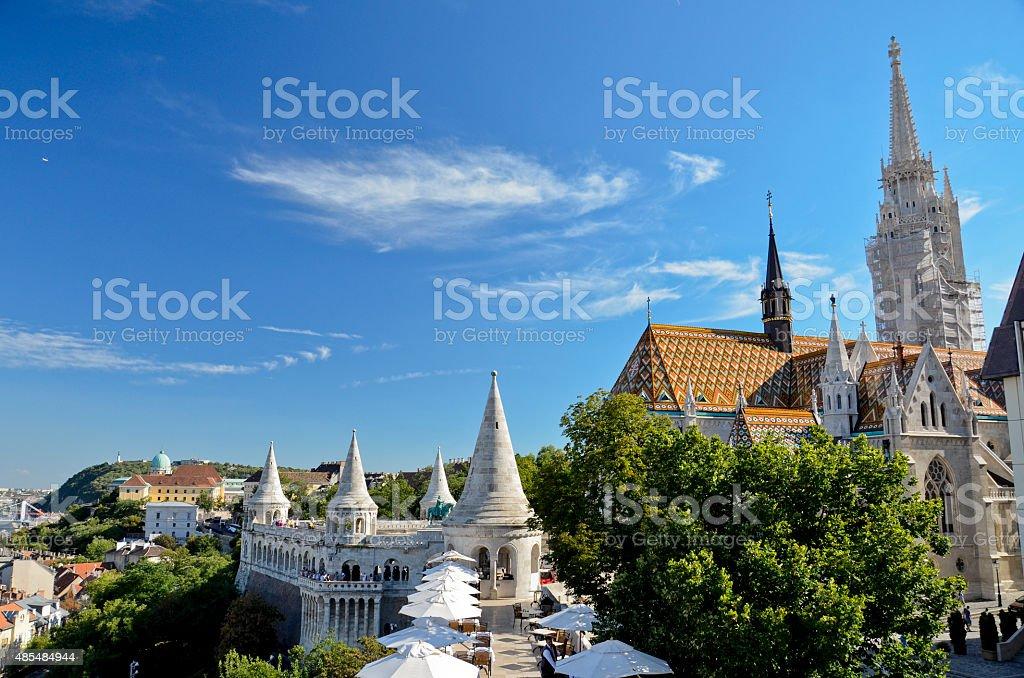 Fishermen's Bastion and Matthias Church, Budapest stock photo