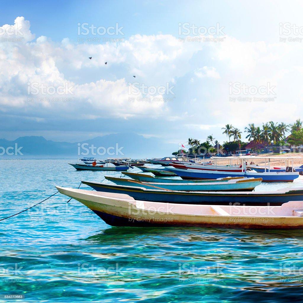 Fishermen's boats stock photo